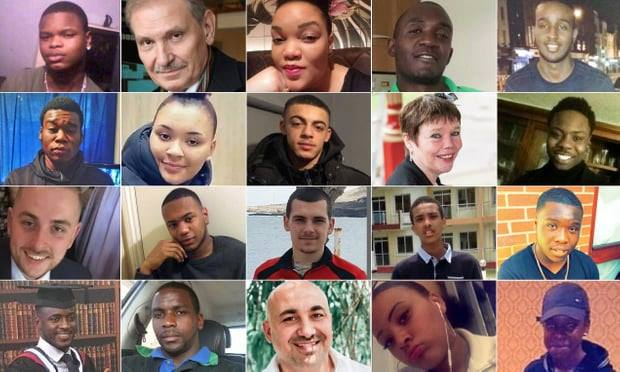 Victims of knife crime in London 2018