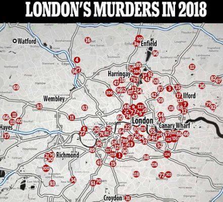 London murders, 2018