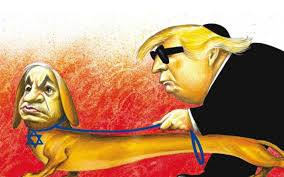 Offensive Trump-Netanyahu cartoon